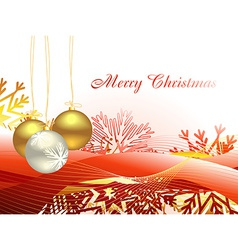 Christmas beautiful artistic wave and balls vector