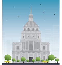 Les invalides hospital vector