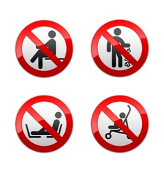 Set prohibited signs - people vector