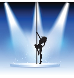 Sexy pole dancer vector