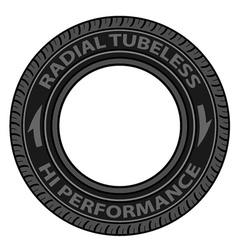 Radial tubeless tyre vector