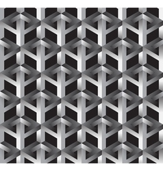 3d impossible shape abstract seamless pattern vector