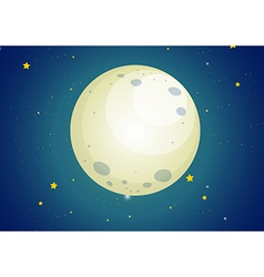 A sky with stars and a moon vector