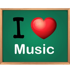 I love music vector