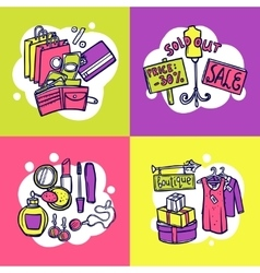 Shopping design concept vector