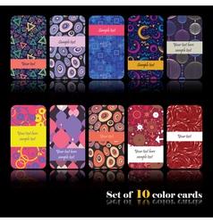 Decorative cards vector
