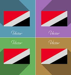 Flags sealand principality set of colors flat vector