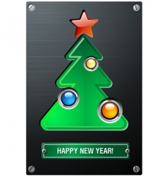Industrial christmas tree vector