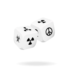 Two white dice of war vector