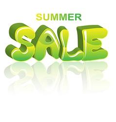 Sale green 3d word vector