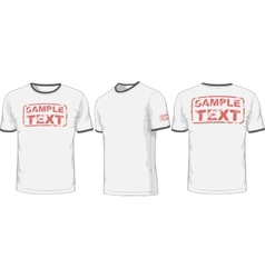 Front back and side views of t-shirt vector