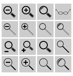 Icons search and scaling vector