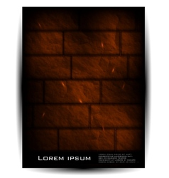 Brick wall architecture background vector