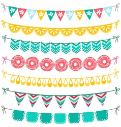 Garland set vector