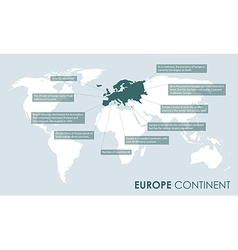European continent facts vector