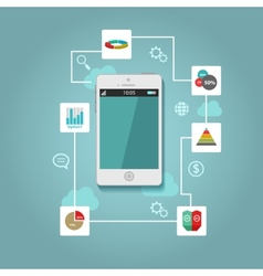 Mobile app flat interface easy-edit vector