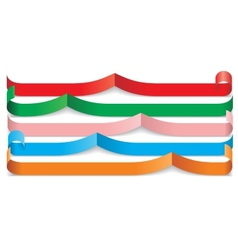 Set of different paper ribbons vector