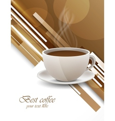 Background with coffee cup vector