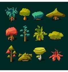 Cartoon nature elements vector