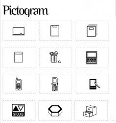 Pictogram icons vector