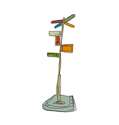 A guidepost stand on vector