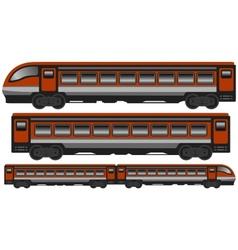 Isolated modern train vector