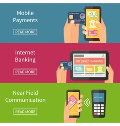 Internet banking mobile payments and nfc vector