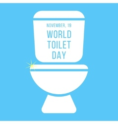 Concept of world toilet day with inscription on vector