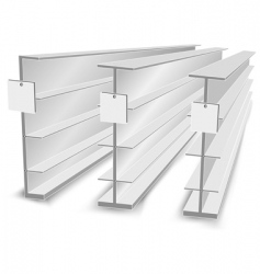 Shelves in store vector