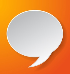 Abstract paper speech bubble vector