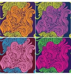 Seamless pattern beautiful decorative curls vector