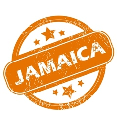 Jamaica grunge icon vector