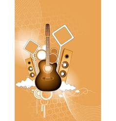Musical abstraction vector