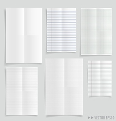 Collection of white papers vector