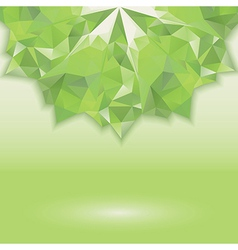 Green triangle crystal horizontal vector