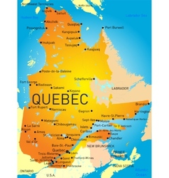 Quebec province vector