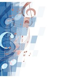 Abstract musical mosaic background vector