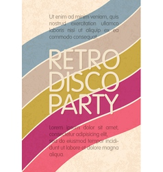 Retro disco party flyer design vector