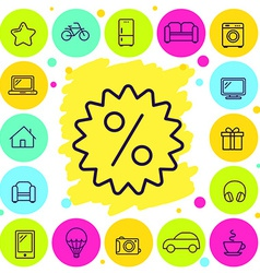 Set of shop and discount icons vector