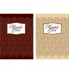 Filigree cover design vector
