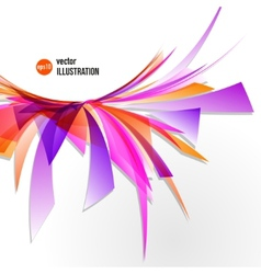 Abstract background of colorful fragments vector