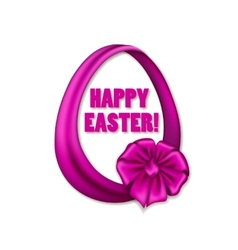 Easter egg with ribbons bow vector
