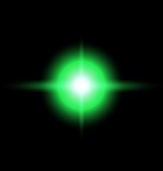 Green star burst vector