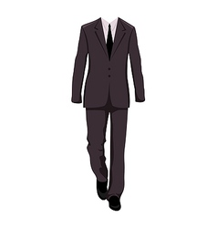 Male business suit design elements - vector