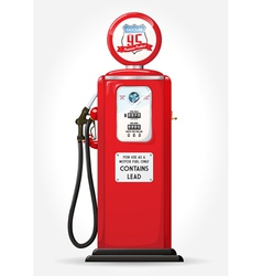 Gas pump retro vector