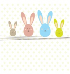 Easter card with rabbit vector