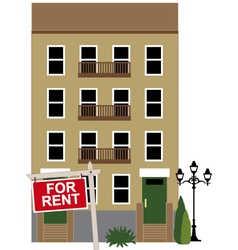 Apartment for rent vector