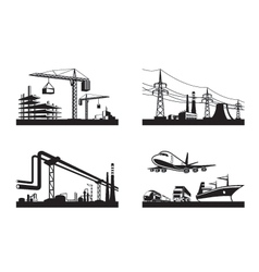 Different types of industries vector