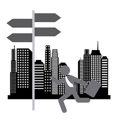 Running businessman design vector