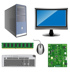 Computer parts vector